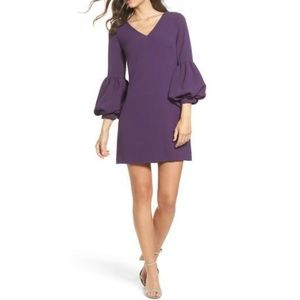 Chelsea 28 Purple Bell Sleeve Shift Dress